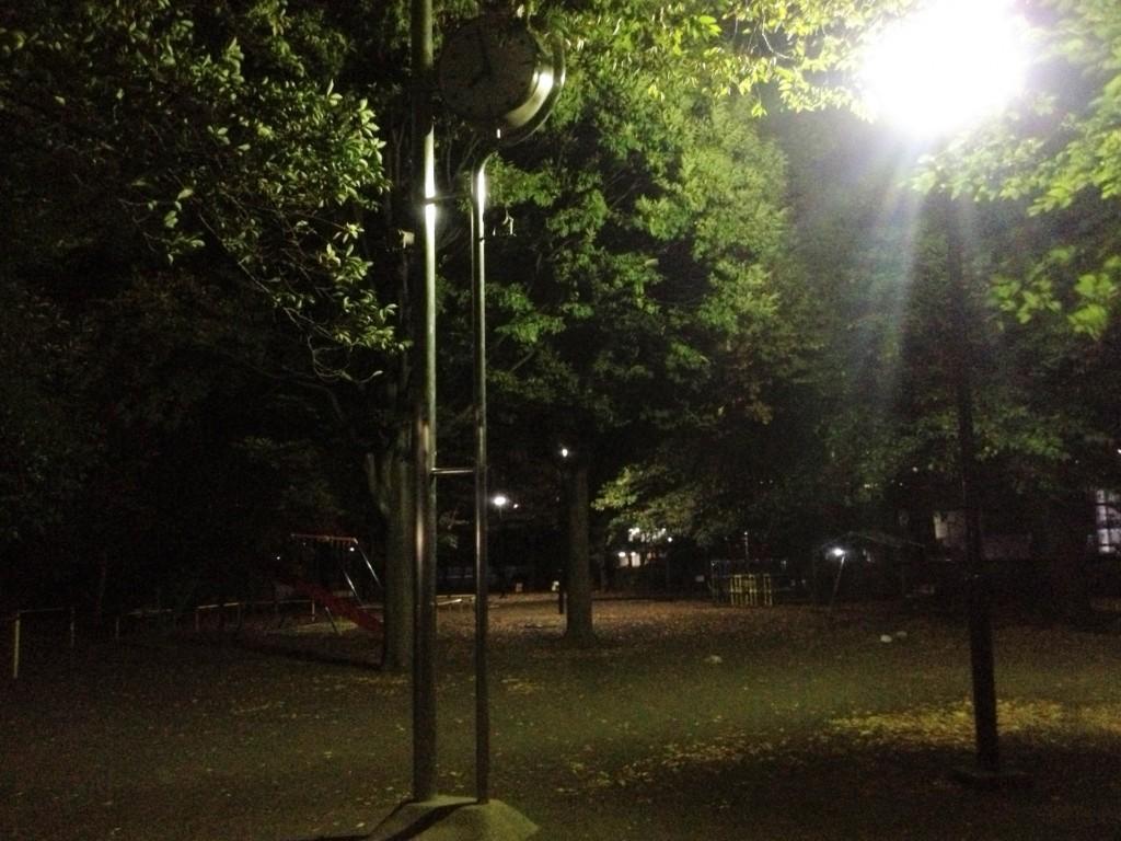 車中泊で危険な場所 夜の公園