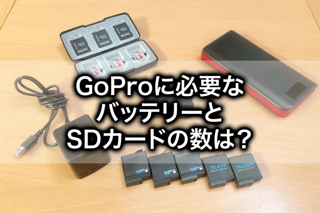 旅行にこれだけ必要!GoPro HERO7の予備のバッテリーとSDカード