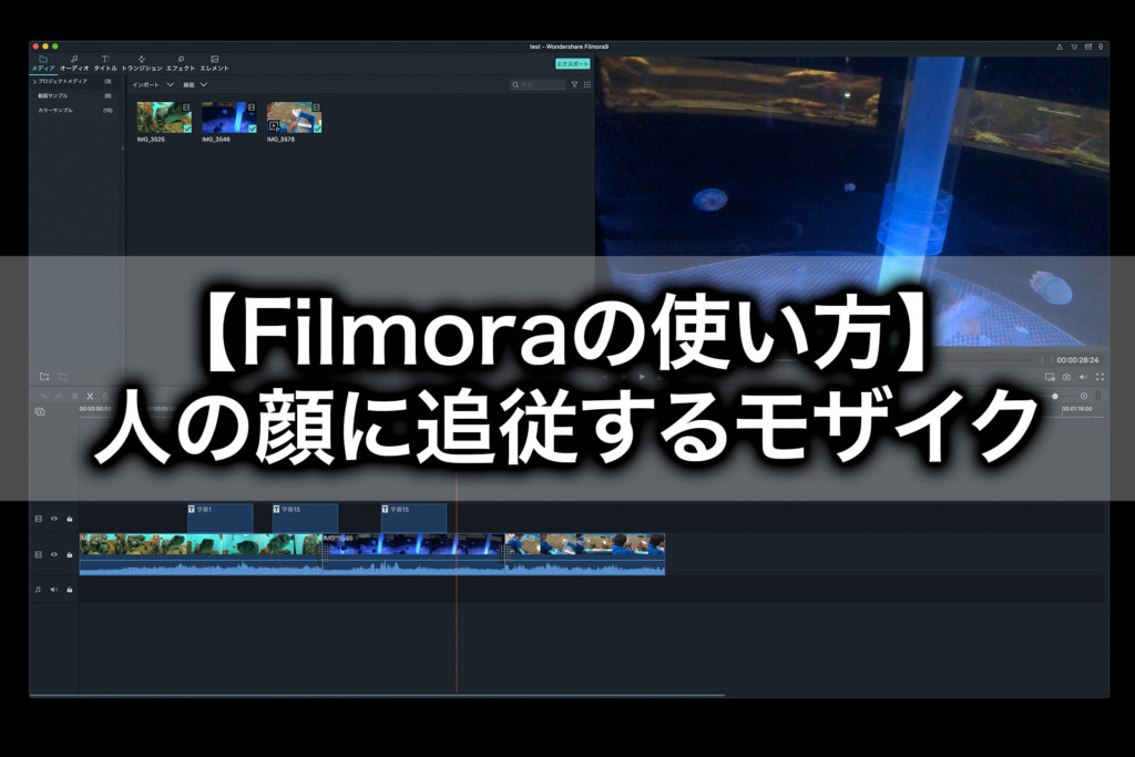 【Filmoraの使い方】追従モザイクで人物の顔を隠す方法