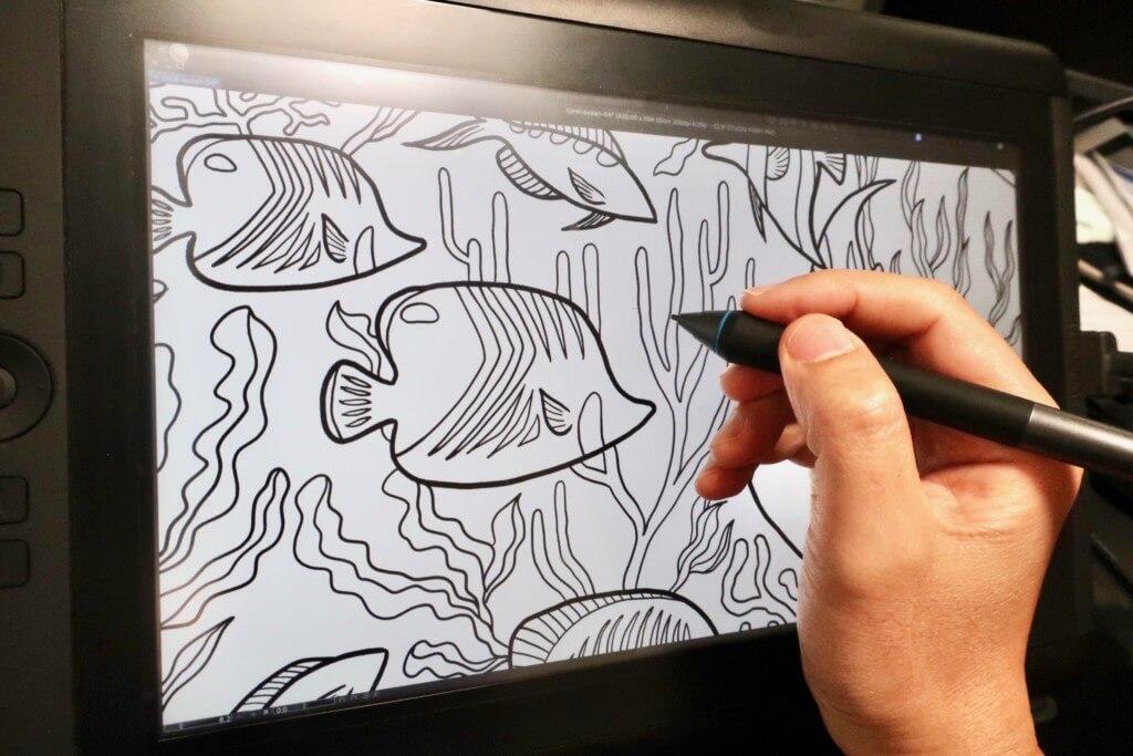 海を感じる魚や珊瑚のイラストをかっこいい感じで描く!