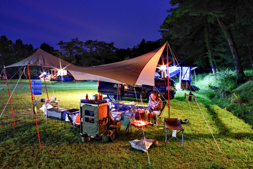 【ファミリーキャンプ/兵庫県養父市】石ヶ堂古代村で一泊して竹田城へ
