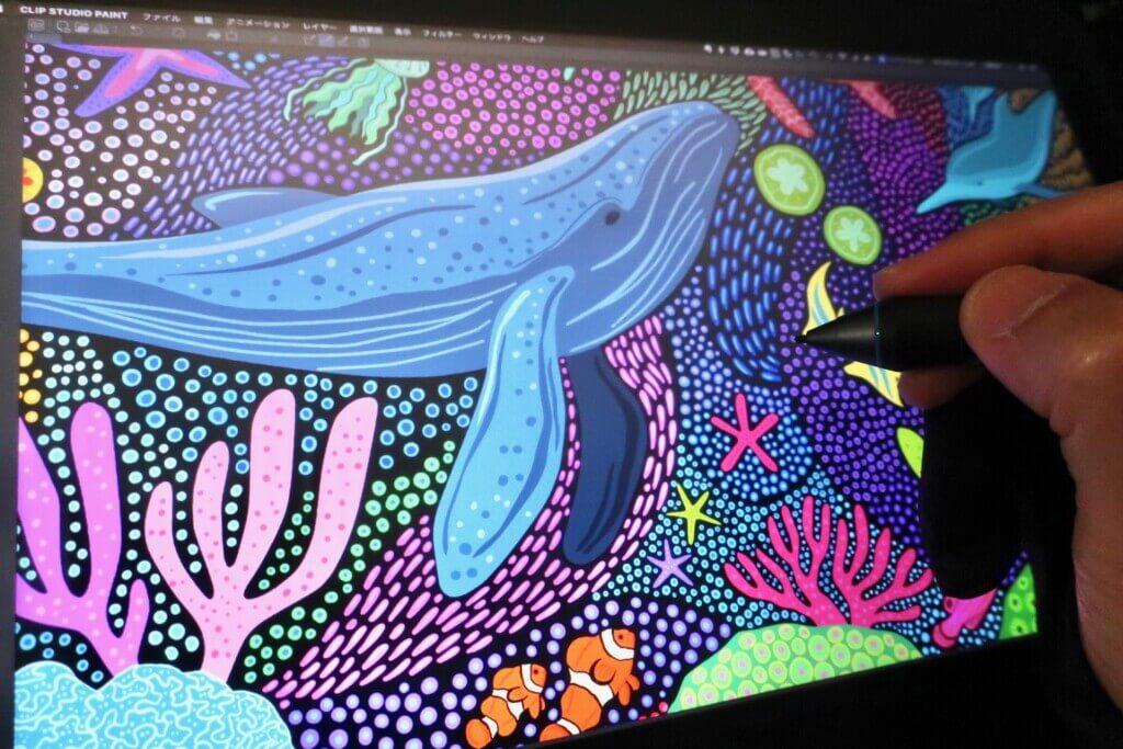 CLIP STUDIO PAINTで夜の海のイラストを描きました