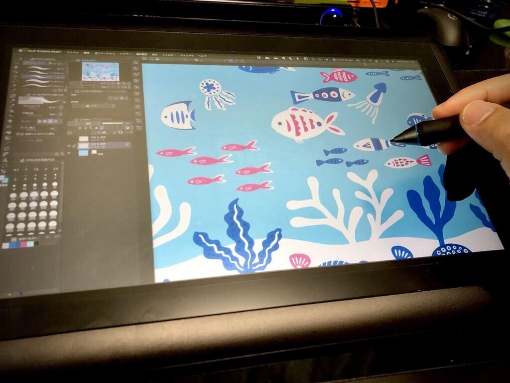 CLIP STUDIO PAINTでかわいいお魚グッズをデザインしました!